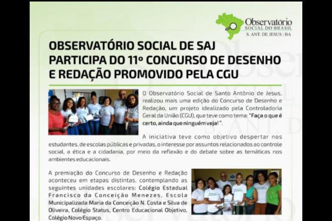 Observatorio Social Do Brasil Santo Antonio De Jesus Bahia